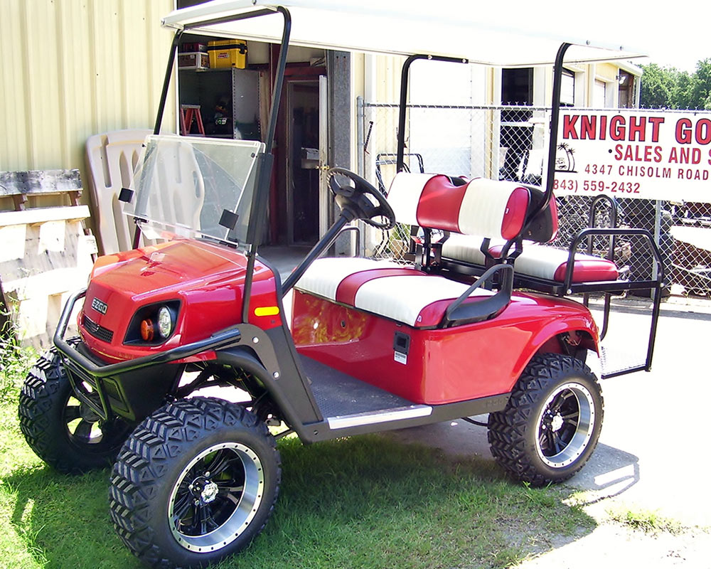 Red Golf Cart with Red Stripe